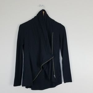 Helmut Lang Black jacket/zipped cardigan sz P (xs)